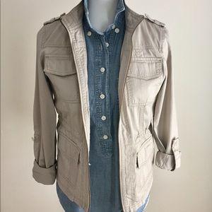 Khaki utility jacket   SZ XS